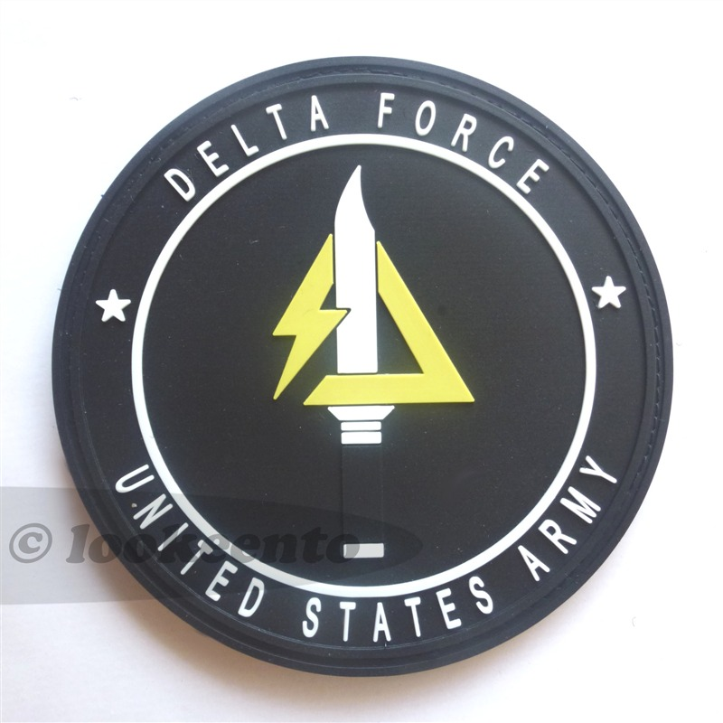 pvc rubber 3D velcro patch delta force army delta unit sfg ...