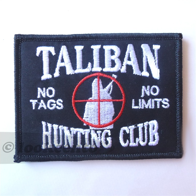taliban hunting club morale tactical afghanistan patch